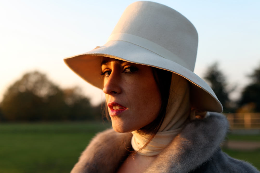 Cream Trilby with attached scarf  5102be5a290